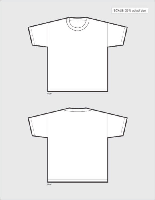 1-Page T-Shirt Design Template