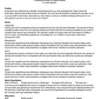1-Page Wide Margin Resume