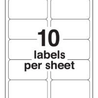 10-Up Blank Shipping Labels (Avery 8163 Template)