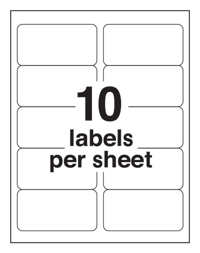 10-Up Blank Shipping Labels Avery 8163
