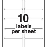 10-up Shipping Labels (Avery Compatible)