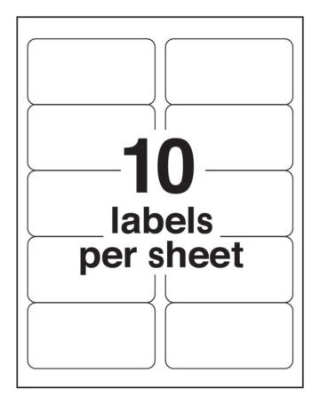 10-up Shipping Labels