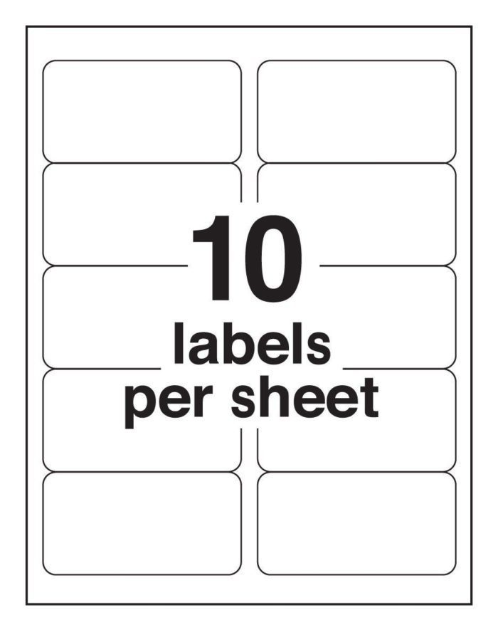 10-up Shipping Labels Avery