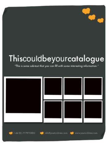 14-Page Black and Orange Catalogue Cover