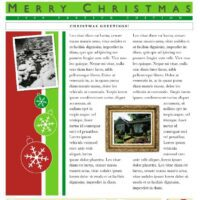 2-Page Christmas Newsletter