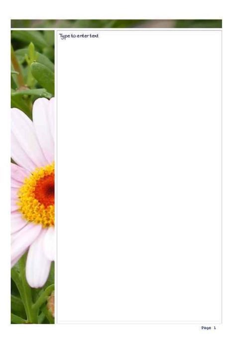 2-Page Daisy Photo Stationery