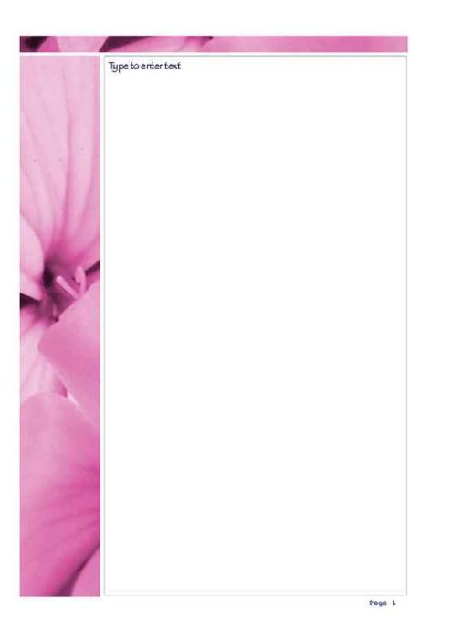 2-Page Pink Hibiscus Photo Stationery