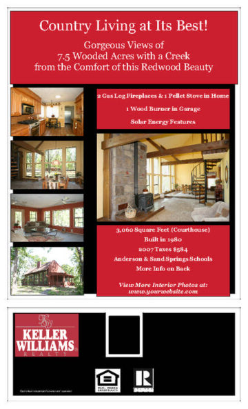 2-Sided Legal Real Estate Flyer Red
