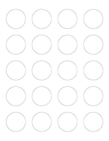 20-Up Blank Round Labels (Label 8293 Template)