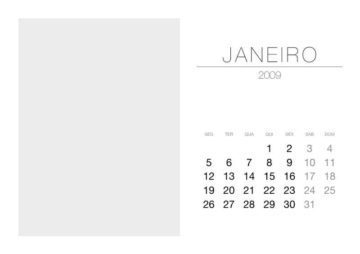 2009 Monthly Calendar Set with Left-Hand Photo