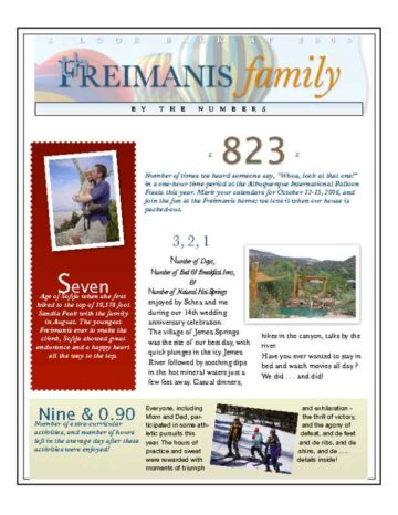 3-Page Family Newsletter Front