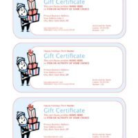 3-Up Holiday Gift Certificate