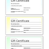 3-Up Pastel Gift Certificates