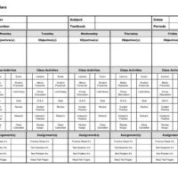 5-Day Lesson Planner in Landscape Orientation