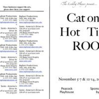 6-Page Play Program with Sponsor Information