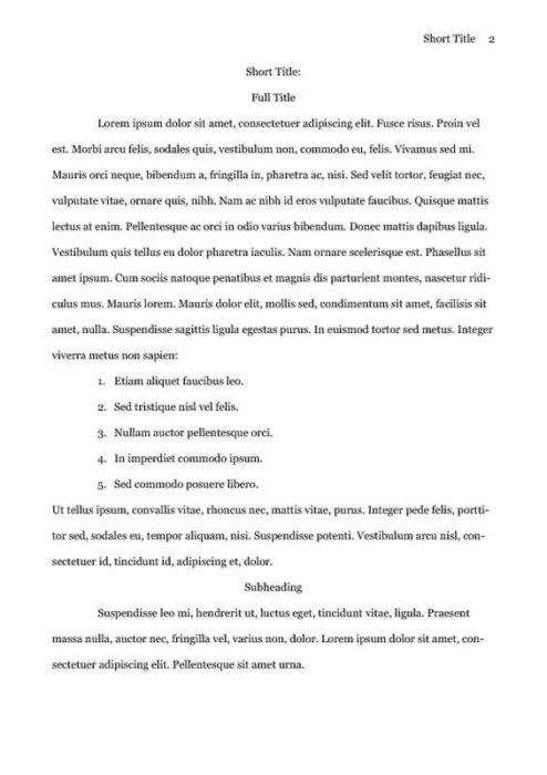 APA Style Research Paper with References Text