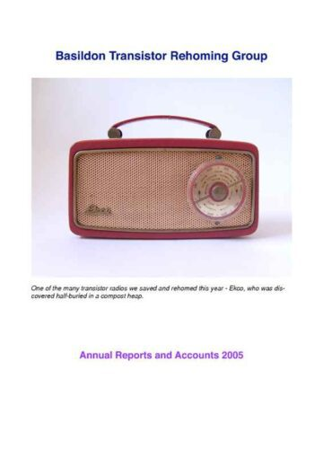Annual Report and Summary of Accounts Cover Page
