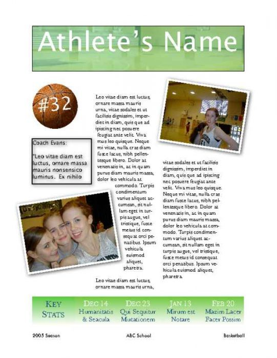 Athlete Showcase Flyer