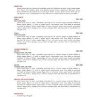 Black and Red Single-Page Resume