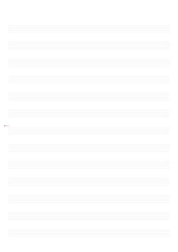 Blank Musical Composition Paper