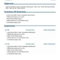 Blue Accent Resume with Cover Page