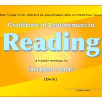 Bright Yellow Student Certificate