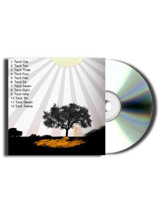 CD Jewel Case Track Sheet with Tree Background