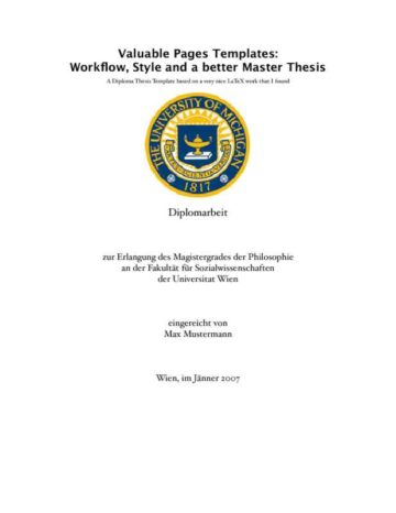 Collegiate Thesis Paper (German)