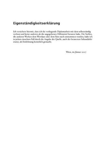 Collegiate Thesis Paper (German) Inner Page