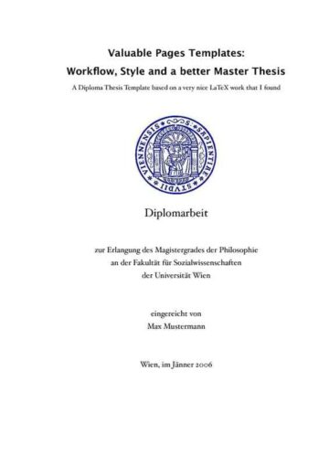 Collegiate Thesis Paper with Quotes (German) Cover Page