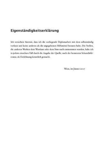 Collegiate Thesis Paper with Quotes (German) Inner Page