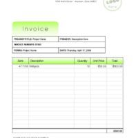 Company Invoice with Bright Green Accents