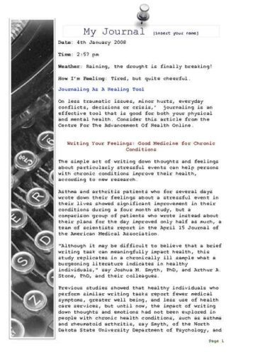 Daily Personal Journal with Typewriter Edging
