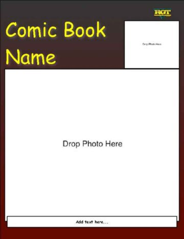 Dark Comic Book with Captions Title and Photo