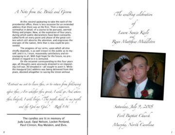Detailed Wedding Program Booklet