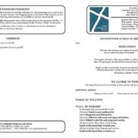 Dual-Sided Church Bulletin Booklet