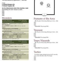 Dungeons and Dragons Encounter Worksheet