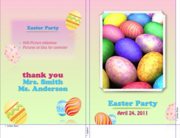 Easter-Themed Slim DVD Insert