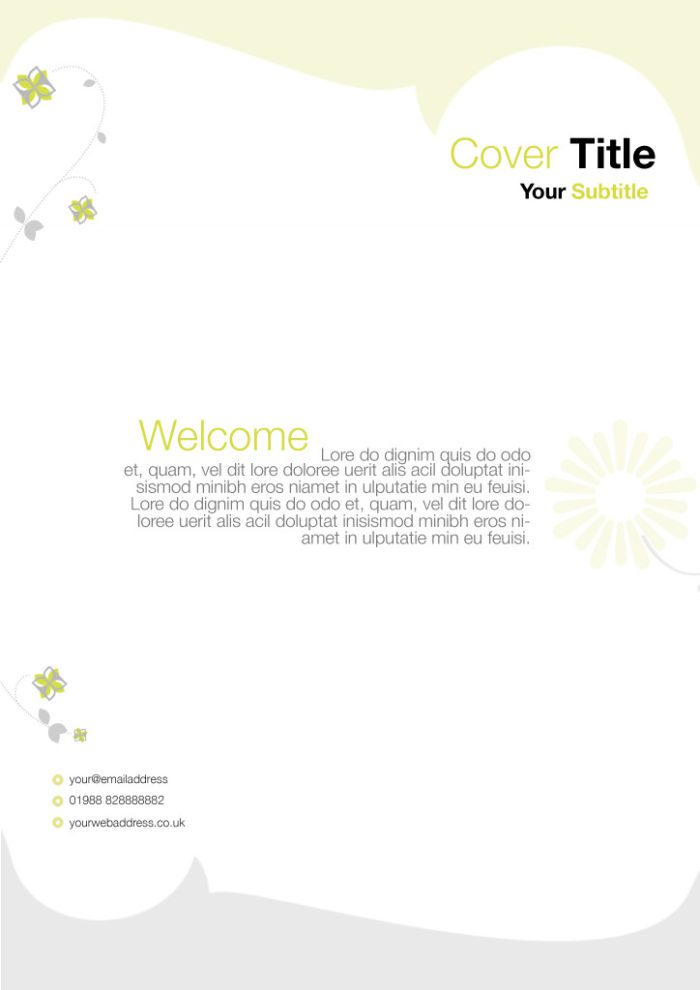 Flowered Flyer with Green Accents
