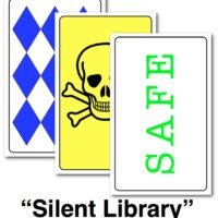 "Game Cards for ""Silent Library"""