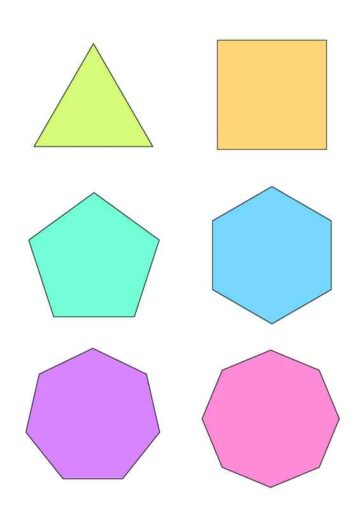 Geometric Shapes and Foldable Boxes Six Shapes