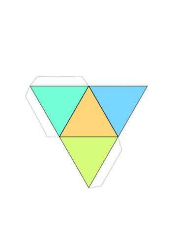 Geometric Shapes and Foldable Boxes Triangle