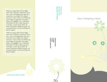 Green Daisy Trifold Brochure Cover and Back