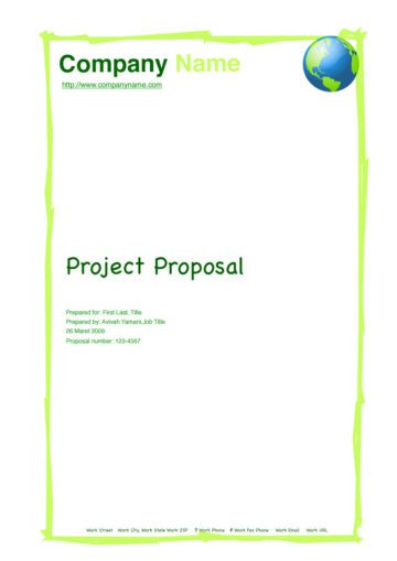 Green Globe Project Proposal Cover