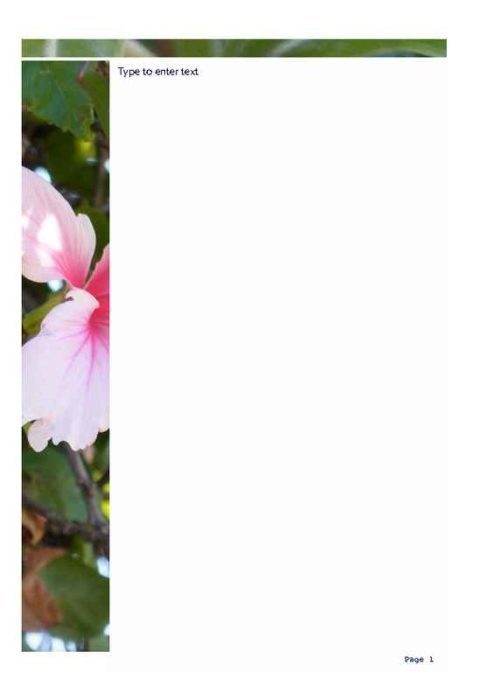 Hibiscus Photo Stationery