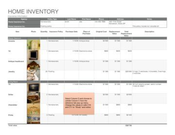 Home Insurance Inventory Back