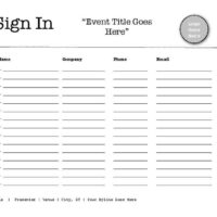 Landscape 15-Person Sign-In Sheet