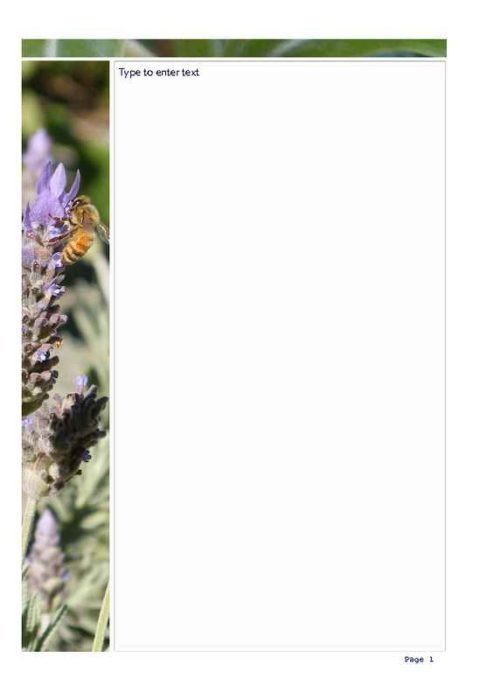 Lavender and Bees Photo Stationery
