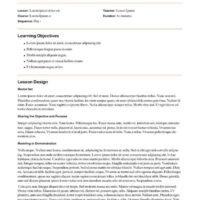 Lesson Plan Framework with Learning Strategies