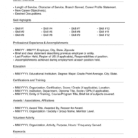 Lined Resume